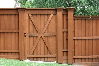 Wood Fence Gate Austin